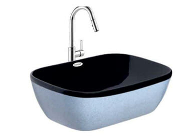 Designer Table Top Wash Basin Cyber Black