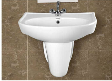 Wash Basin Half Pedestal Elite- Half- Set
