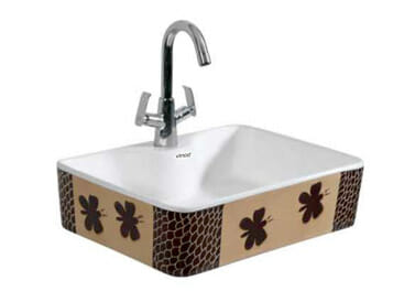 Designer Table Top Wash Basin Recta Art - 1